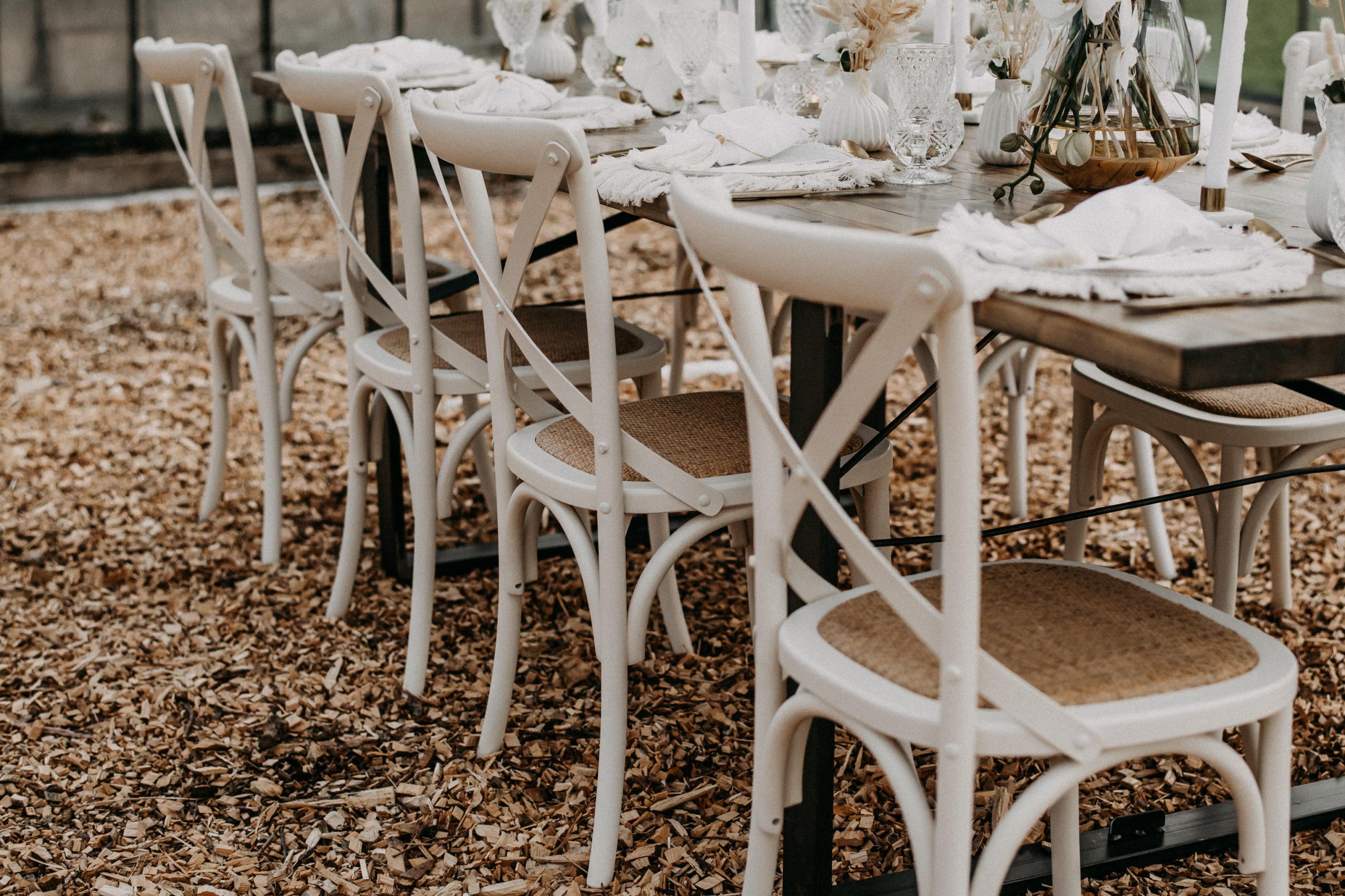 Boho Stühle mieten Hochzeit